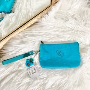 NWT Kipling Creativity XL Pouch in Turquoise Blue